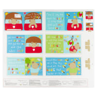 "Huggable And Lovable 6  36"" Sleep Book Panel Multi"