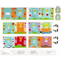 "Huggable And Lovable 6 36"" Little Monster Book Panel Multi"