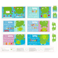 "Huggable And Lovable 6 36"" Toadally Book Panel Multi"