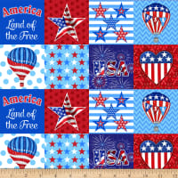America: Land Of The Free Patchwork Patriotic