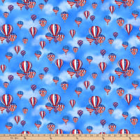 America: Land Of The Free Hot Air Balloons Blue