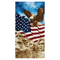 "Northcott Stars and Stripes Mt Rushmore 23"" Panel Blue"