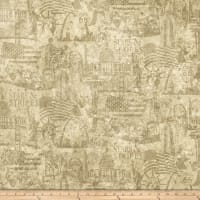 Northcott Stars and Stripes Patriotic Scene Beige