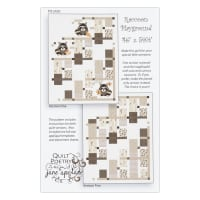 Northcott Woodland Pitter Patter Raccoon Playground Pattern