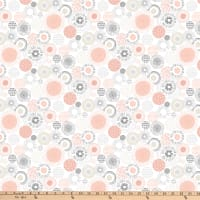 Northcott  Soho Patterned Circles Pink and White