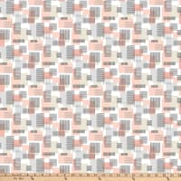 Northcott  Soho Textured Squares Pink White