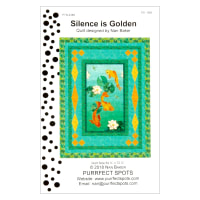 Northcott Koi Pond Metallic Silence is Golden Pattern
