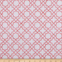Northcott  Blossoming Beauties Grid Pink