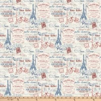 Northcott  Paris Always A Good idea Paris Multi Toile Taupe