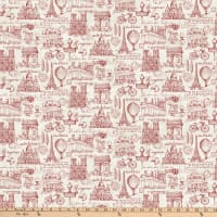 Northcott Paris Always A Good Idea Paris Toile Red
