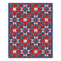 "Northcott Howl for Freedom Howl Pals 50"" x  62"" Pattern"