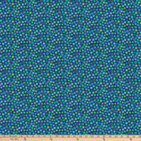 Northcott X's and O's Blue Lagoon Fruit Loops Indigo/Multi