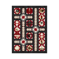 Northcott Canadian Classics Parliament Squares Pattern Multi