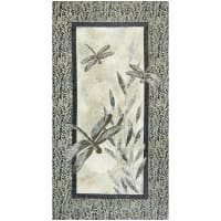 "Northcott  Dragonfly Moon Neutrals Panel 24"" Black/Taupe"