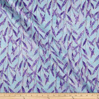 Northcott  Dragonfly Moon Neutrals Leaves Turquoise/Purple