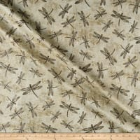Northcott  Dragonfly Moon Neutrals Dragonfly Taupe/Grey