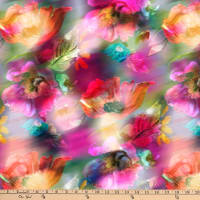 P&B Textiles Off The Grid Fantasy Flowers Multi