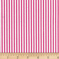 Westrade Classic Stripe White/Hot Pink