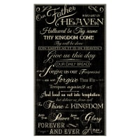 "Timeless Treasures Faithful Lord's Prayer 24"" Panel Black"