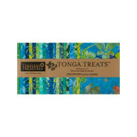 "Timeless Treasures Tonga Batik 5"" Square 40 Pcs Grasshopper"