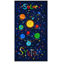 "Timeless Treasures Solar Power 24"" Solar System Panel Blue"