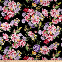 Timeless Treasures Isabelle Wild Rose Black