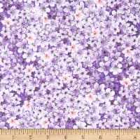 Timeless Treasures Isabelle Packed Mini Flowers Purple