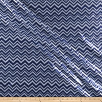 Shaky Metallic Chevron Spandex Navy/White