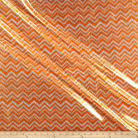 Shaky Metallic Chevron Spandex Orange/White