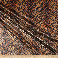 Golden Tiger Spandex Sequins Gold