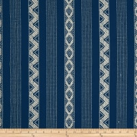 Laura & Kiran Southwest Stripes Cavallo Stripe Basketweave Indigo/Natural