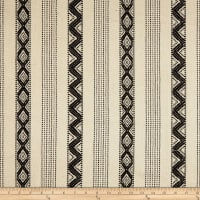 Laura & Kiran Southwest Stripes Cavallo Stripe Basketweave Black/Natural