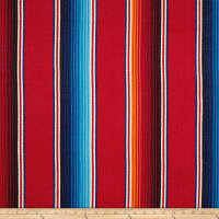 Laura & Kiran Southwest Stripes Fiesta Stripe Basketweave Red Multi