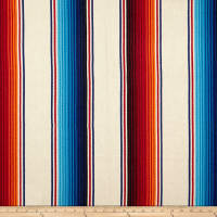 Laura & Kiran Southwest Stripes Fiesta Stripe Basketweave Natural Multi