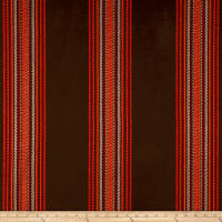 Laura & Kiran Outwest Stripes Quintana Basketweave Brown/Red