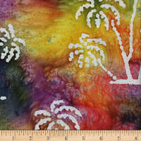 Ocean Grove Batik Large Palm Tree Multi/White