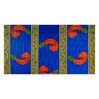 Supreme Basin African Ankara Print Broadcloth 6 Yards Blue/Green