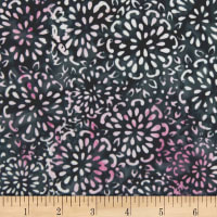 Banyan Batiks Darling Lace Abstract Floral Pink/Charcoal