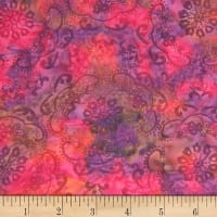 Banyan Batiks Darling Lace Swirl Flowers Clay