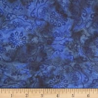 Banyan Batiks Darling Lace Swirl Flowers Royal
