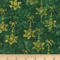 Banyan Batiks Winter Light Fireside Dark Green/Gold