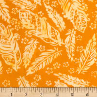 Banyan Batiks Feathers Small Florals & Feathers Orange