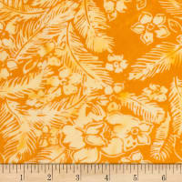 Banyan Batiks Feathers Flowers & Feathers Orange
