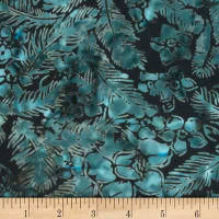 Banyan Batiks Feathers Flowers & Feathers Teal