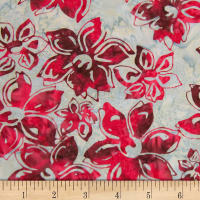 Banyan Batiks Mary Red/White