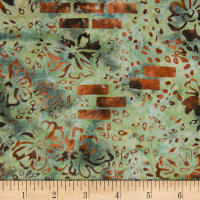 Banyan Batiks Mary Abstract Moss