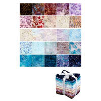 Ketan Batik Mixer Fat Quarter 20 Pcs Mint Mocha