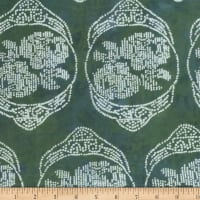 Banyan Batiks Roses And Thorns Mint Green