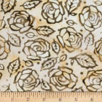 Banyan Batiks Roses And Thorns Earth Cream/Brown