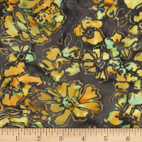 Banyan Batiks Roses And Thorns Earth Brown/Orange